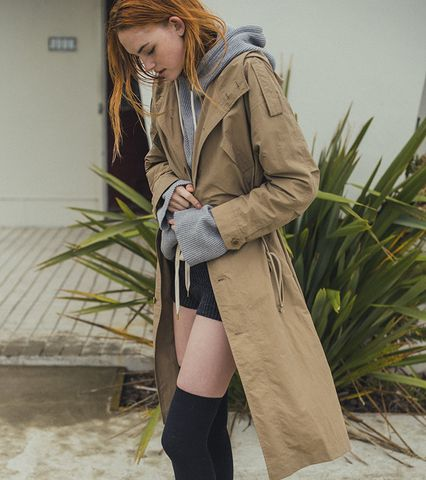 Nylon Long Coat