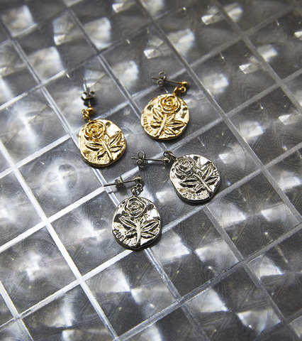 Rose Coin Earring
