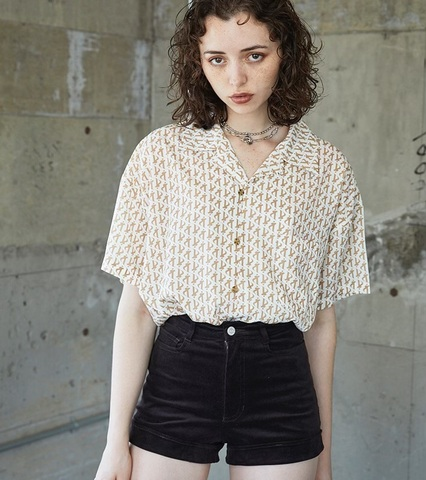 Luster High-Waisted Corduroy Shorts
