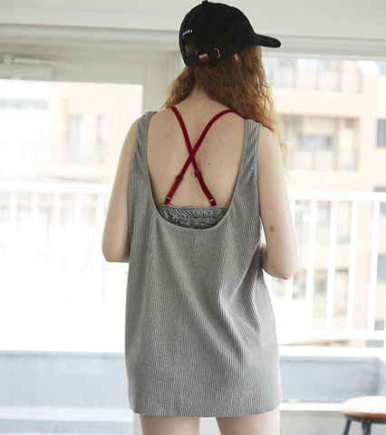 Open Back Ribbed Tank Top