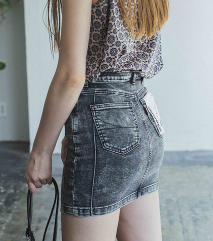Véronique(PIN TUCK MINI SKIRT)