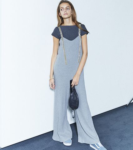 Ribbed Wide Jumpsuit