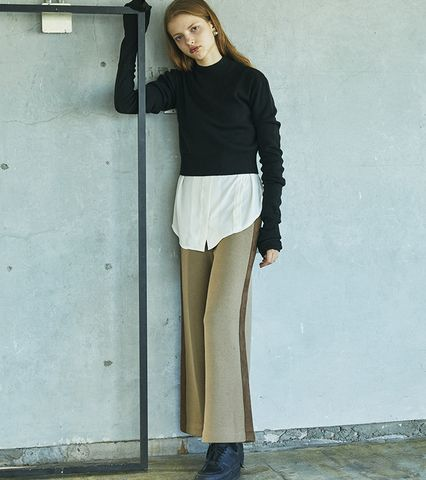 Suede Tape Knit Pants