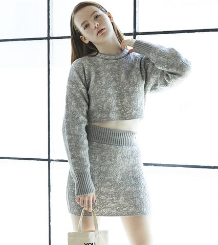 Mosaic Knit Skirt