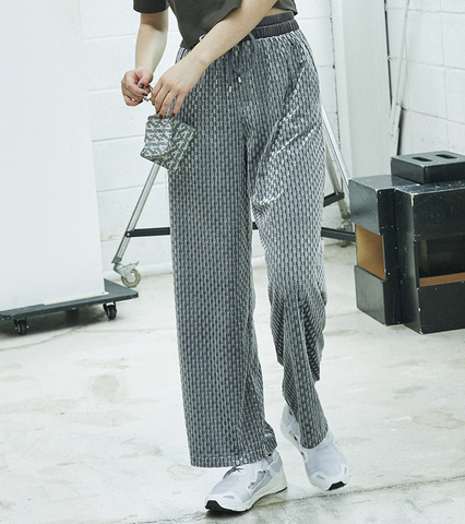 Velour Check Pattern Thai Pants