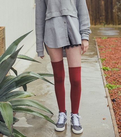 Over The Knee Ribbed Socks