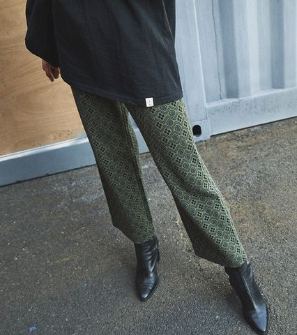 Pattern Jacquard Knit Pants