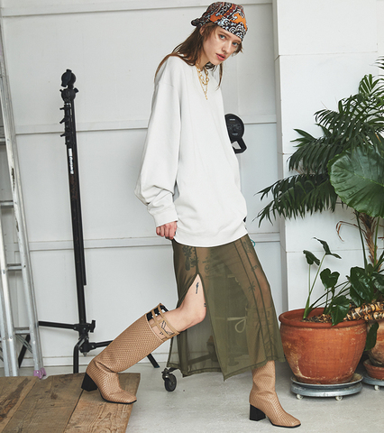 Lattice Long Boots